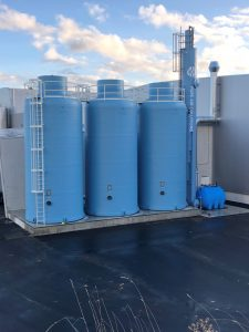 Solvent treatment air emission